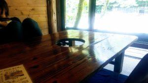彩の里 客室のテーブル