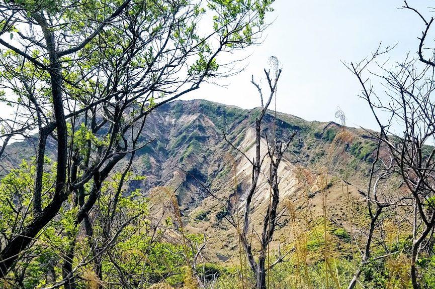 阿蘇山 山頂付近
